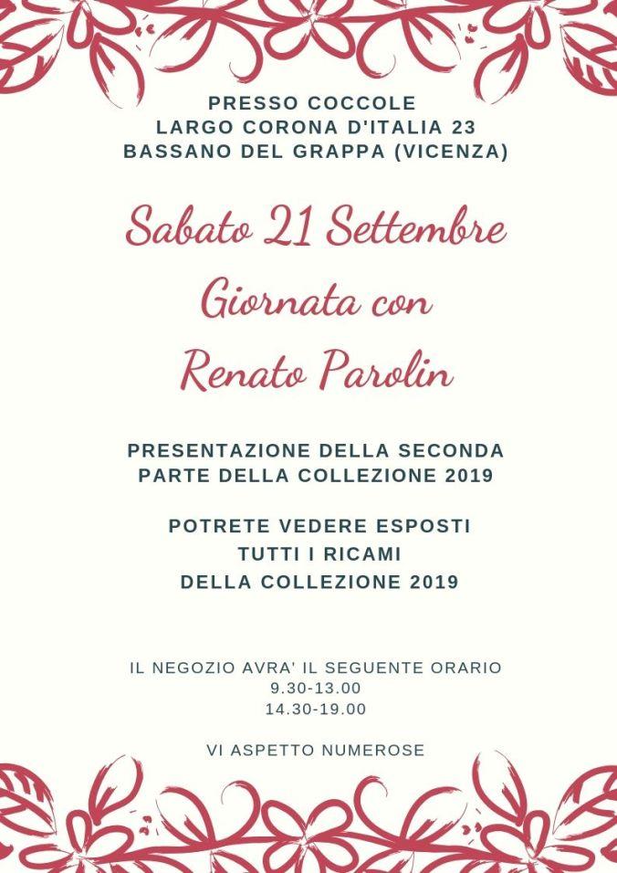 Sabato 22 Settembre giornata con Reanato Parolin